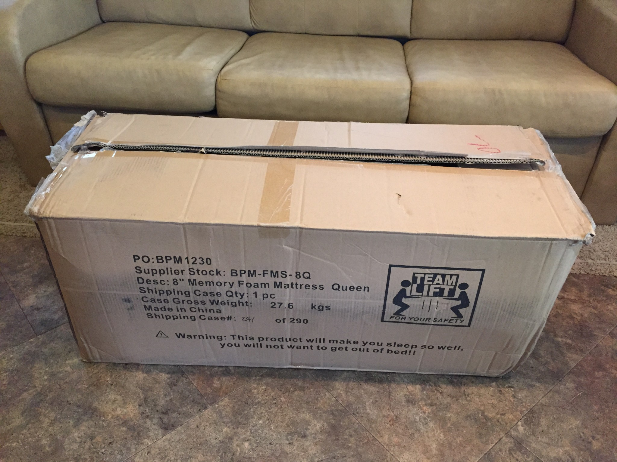 rv queen memory foam mattress - Shipping A Mattress
